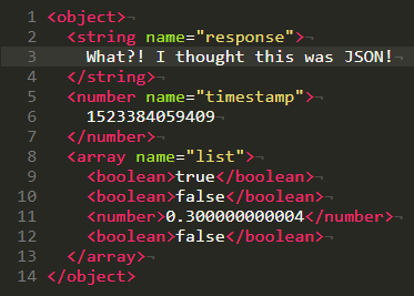 This example loads a valid, but weird-looking XML document in XML editor so you can try it out.