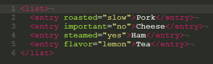 This example highlights the syntax of a valid XML document.